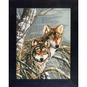 """Набор для вышивания крестом LANARTE """"Волки"""""""