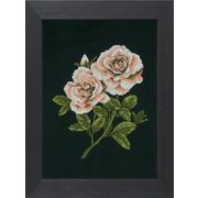"""Набор для вышивания крестом LANARTE """"Розы на черном"""""""