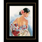 """Набор для вышивания крестом LANARTE """"Цветочный шарф"""""""
