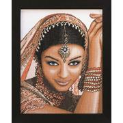 """Набор для вышивания крестом LANARTE """"Индийская модель"""""""
