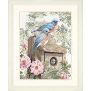 """Набор для вышивания крестом LANARTE """"Сад синих птиц"""""""