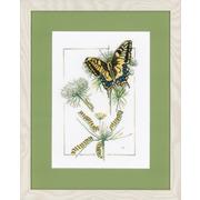 """Набор для вышивания крестом LANARTE """"От гусеницы до бабочки"""""""