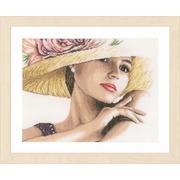 """Набор для вышивания крестом LANARTE """"Девушка в шляпе"""""""