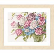 """Набор для вышивания крестом LANARTE """"Красивый букет цветов"""""""