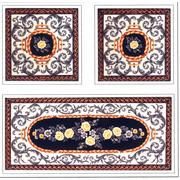 """Канва с нанесенным рисунком Gobelin-L """"Дорожка с орнаментом + подушка"""""""