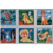 """Канва/ткань с нанесенным рисунком Gobelin-L """"Детские сюжеты"""", 6 картинок"""