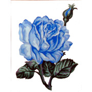 "Канва/ткань с нанесенным рисунком Gobelin-L ""Голубая роза"""