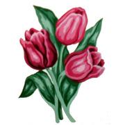 """Канва/ткань с нанесенным рисунком Gobelin-L """"Тюльпаны"""""""
