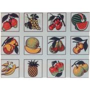 """Канва/ткань с нанесенным рисунком Gobelin-L """"Фрукты"""", 12 картинок"""