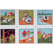 """Канва с нанесенным рисунком Gobelin-L """"Детские картинки"""", 6 картинок"""