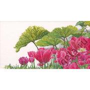 """Набор для вышивания крестом Thea Gouverneur """"Тюльпаны в саду"""""""