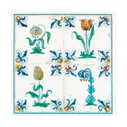 """Набор для вышивания крестом Thea Gouverneur """"Античная плитка, цветы"""""""