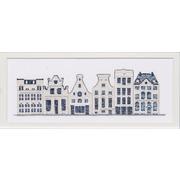 """Набор для вышивания крестом Thea Gouverneur """"Дома в стиле Delft Blue"""""""