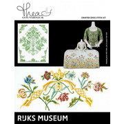 """Набор для вышивания крестом Thea Gouverneur """"Музей Rijks """"Платье 1750-1760 / Жакет 1730-1749"""""""""""