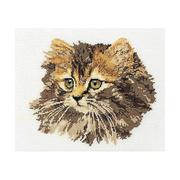 """Набор для вышивания крестом Thea Gouverneur """"Длинношерстная кошка"""""""