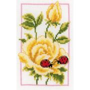 """Набор для вышивания крестом Vervaco """"Жёлтые розы"""""""