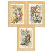"""Набор для вышивания крестом Vervaco """"Декоративные бабочки"""""""