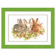 """Набор для вышивания крестом Vervaco """"Кролики в цветочном поле"""""""