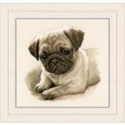 """Набор для вышивания крестом Vervaco """"Собака Мопс"""""""