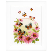 """Набор для вышивания крестом Vervaco """"Эхинацея и бабочки"""""""