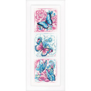 """Набор для вышивания крестом Vervaco """"Синие бабочки"""""""