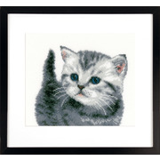 """Набор для вышивания крестом Vervaco """"Серый котёнок"""""""