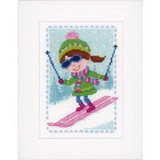 """Набор для вышивания крестом Vervaco """"Лыжница"""""""