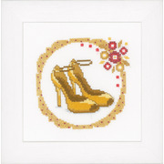 """Набор для вышивания крестом Vervaco """"Желтые туфли-лодочки"""""""