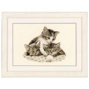 """Набор для вышивания крестом Vervaco """"Три маленьких котенка"""""""