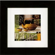 """Набор для вышивания крестом Vervaco """"Азиатская чайная церемония - желтый чайник"""""""