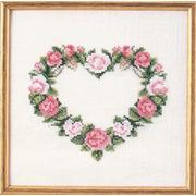 """Набор для вышивания крестом Oehlenschlager """"Сердце из розовых роз"""""""