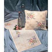 """Набор для вышивания крестом Oehlenschlager подушки """"Розы и васильки"""""""