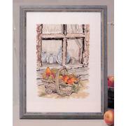 """Набор для вышивания крестом Oehlenschlager """"Окно с фруктами"""""""