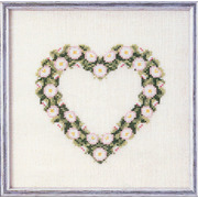 """Набор для вышивания крестом Oehlenschlager """"Сердце из ромашек"""""""