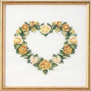 """Набор для вышивания крестом Oehlenschlager """"Сердце из желтых роз"""""""