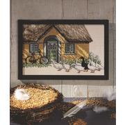 """Набор для вышивания крестом Oehlenschlager """"Гуси возле дома"""""""