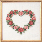 """Набор для вышивания крестом Oehlenschlager """"Сердце из красных роз"""""""