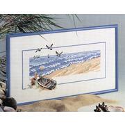 """Набор для вышивания крестом Oehlenschlager """"Лодка на пляже"""""""