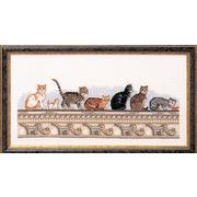 """Набор для вышивания крестом Oehlenschlager """"Кошки на стене"""""""