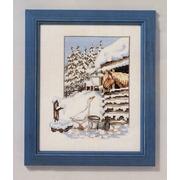 """Набор для вышивания крестом Oehlenschlager """"Гусь и лошадь"""""""