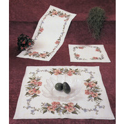 """Набор для вышивания крестом Oehlenschlager дорожки """"Розы и бабочки"""""""