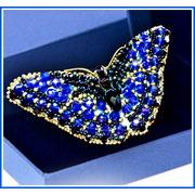 """Набор для вышивания хрустальными бусинами Образа в каменьях Брошь """"Бабочка Сапфир"""""""