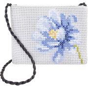 """Набор для вышивания крестом Luca-S """"Сумка Синий цветок"""""""