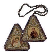 """Набор для вышивания бисером Nova sloboda """"Прав. Анна, мать Пресвятой Богородицы и Ангел Хранитель"""""""
