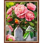 """Набор для выкладывания мозаики Алмазная живопись """"Птичка в саду"""""""