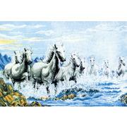 """Набор для вышивания крестом Белоснежка """"Табун лошадей"""""""