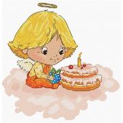 """Набор для вышивания крестом Белоснежка """"Ангел с тортиком"""""""