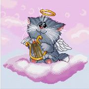 """Набор для вышивания крестом Белоснежка """"Котенок ангелочек"""""""