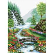 """Набор для вышивания крестом Белоснежка """"Река в лесу"""""""