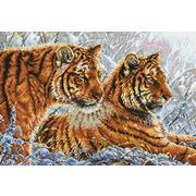 """Набор для вышивания крестом Белоснежка """"Амурские тигры"""""""